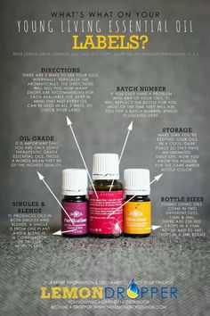 Young Living oil labels. Learn more about oils at www.facebook.com/theoilessentials