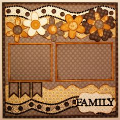 Family 1-page layout Brought To You By The Letter {J} Kiwi Lane Designs