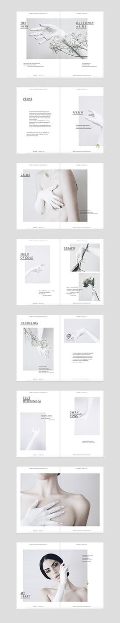 Design editorial layout photography 16 New Ideas Mise En Page Portfolio, Portfolio Layout, Portfolio Design, Graphic Design Layouts, Brochure Design, Graphic Design Inspiration, Brochure Layout, Layout Cv, Design Posters