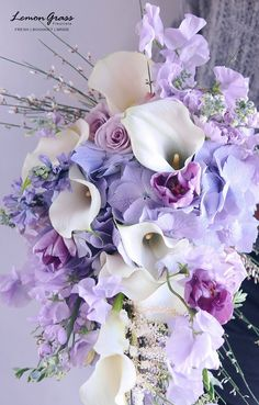 waterfall bouquet *surchage will be applied Gardens are not merely for lawns and domestic Engage in fields, but may also be fantastic locations for storage sheds whereby one can just fundamentally stock unused residence stuffs within the lose. Beautiful Bouquet Of Flowers, Purple Wedding Flowers, Beautiful Flower Arrangements, Bridal Flowers, Flower Bouquet Wedding, My Flower, Silk Flowers, Floral Arrangements, Beautiful Flowers