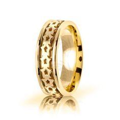 10k Yellow Gold Celtic Knot Wedding Band Polish 7mm 01697