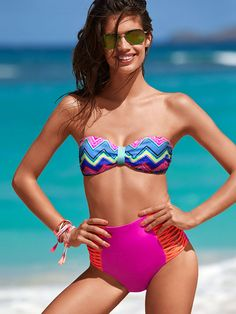 7c64293ddf High-waist Bikini Bottom - PINK - Victoria s Secret High Waisted Bikini  Bottoms