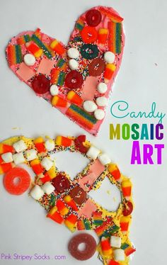 Easy Kid Art for the Holidays- Make a candy Mosaic!