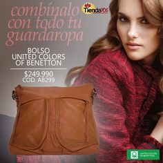 BOLSO UNITED COLORS OF BENETTON - COMBÍNALO CON TODO.