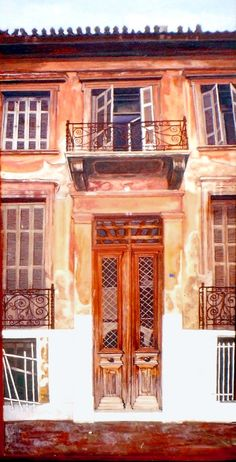 Old Greek, Greek Art, Moma Art, Old Doors, Door Knockers, Neoclassical, Architecture Design, Greece, Windows