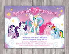 My Little Pony Invitation for Birthday Party by WonderAndWishes