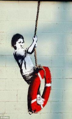 Bilder: Best of Banksy Graffiti - Street Art & Alternative Art - Grafitti Banksy Graffiti, Arte Banksy, Banksy Artwork, Street Art Banksy, Graffiti Tattoo, Bansky, Banksy Tattoo, Banksy Paintings, Graffiti Artists