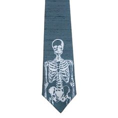 Skeleton Necktie Slate Blue now featured on Fab.