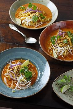 Chicken Khao Soi Soup _ Curry paste gives this northern Thai-inspired ...