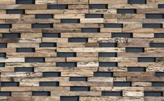 Wooden Wall Cladding for exterior TRAIN by Wonderwall Studios Textured Wall Panels, Wooden Wall Panels, Wood Panel Walls, Decorative Panels, Panel Wall Art, Wooden Wall Art, Wooden Walls, Wood Paneling, Painted Walls