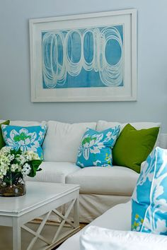 Phoebe Howard's design. Turquoise, green, and tiffany blue fun. Love.