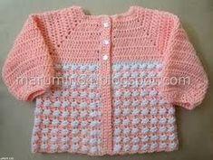 Resultado de imagen para saquito bebe crochet patrones