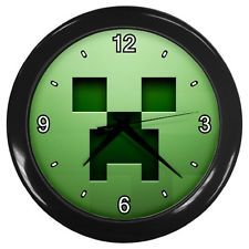 Minecraft Creeper Wall Clock can b done in cross stitch