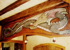 I loves the Green Dragon.  :D <3 This would be so cool to paint somewhere.