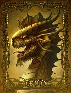 Dragons by Kerem Beyit 3 Dragonhead 龍 Ice Dragon, Gold Dragon, Magical Creatures, Fantasy Creatures, Dragon Dreaming, Dragon Illustration, Illustration Pictures, Dragon Tales, Dragon's Lair