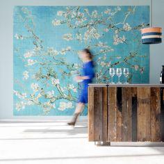 Van Gogh, Almond Blossom, Wall Art by Ixxi Vincent Van Gogh, Van Gogh Museum, Fleurs Van Gogh, Grand Art Mural, Van Gogh Almond Blossom, Deco Cool, Big Wall Art, Temporary Wallpaper, Sweet Home