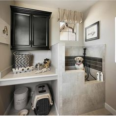 Yes or Nah for a dog wash station? Via @lovefordesigns