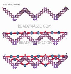 Free pattern for necklace Ebony | Beads Magic seed beads 11/0  faceted beads 3-4mm  faceted beads 6 mm  round or oval beads about 6 mm