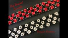 Right Angle Weave Embellished Bracelet ( Easy to Follow Tutorial) ❣️