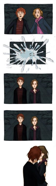 Ron and Hermione on Pinterest | Hermione, Fan Art and ...