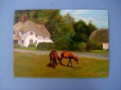 Vintage Art English 1960s Landscape Oil by QueensParkVintage, $65.00