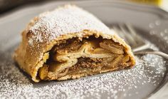 Authentic Vegan (can be made Gluten Free) Apple strudel. Perfect for fall! recipe here--->  http://www.plantbasedcooks.com/authentic-german-vegan-apple-strudel/