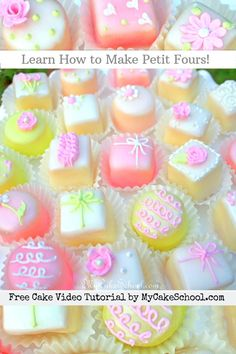 Our favorite Classic Petit Four Glaze recipe! This glaze is so simple, and creates the most beautiful glaze for petit fours. My Cake School Petit Four Glaze Recipe, Petit Four Icing, Cupcakes, Cupcake Cakes, Poured Fondant, Petit Cake, Cake Decorating Videos, Pound Cake Recipes, Frozen Cake