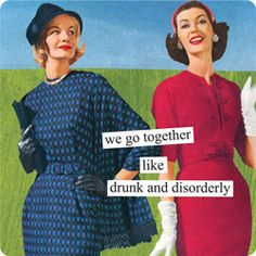 Anne Taintor - Magnets / we go together like drunk and disorderly