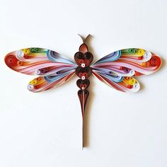 Quilled Paper Art: Colourful Dragonfly Dragonfly by Gericards