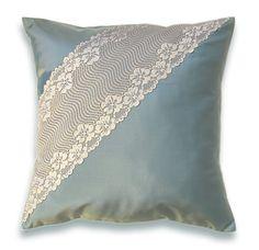 Pillow Cover 16 in Taffeta Lace CARENA DESIGN