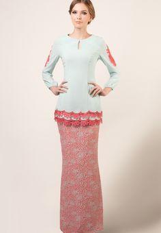 baju kurung lace prada - Google Search