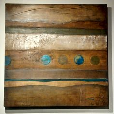 """Waves in Leather – FOR SALE – 24"""" x 24"""" – Palette: Earthen, Turquoise & Olive Green – No Frame – Substrate: Stretched Canvas – Medium:  Oil, Wax & Mixed Media – Art Category: Pure Abstract – Call 414-837-9472 or contact Jeff@TimoGallery.com for pricing.  Original works of fine art crated by Contemporary Abstract Expressionist Painter Timo – aka Timothy Meyerring – More information about Timo and Timo Gallery can be accessed at their website by clicking on this pai"""