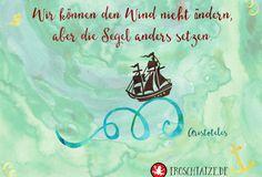 FROSCHTATZE Postkarte | Wir können den Wind nicht ändern, aber die Segel anders setzen.  ----------------------------------------------- Kleines Extra: der 5 € Gutscheincode HEYS9PF für Hörgeschichten und Sprachlern-CDs!