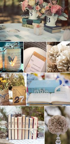 8 Ways to Use Vintage Books in Your Wedding Decor