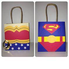 Items similar to Superhero party, superhero party decorations, superhero party bags on Etsy Superhero Party Bags, Superhero Party Decorations, Superhero Birthday Party, Baby 1st Birthday, 1st Birthday Parties, Party Themes, Party Ideas, Superhero Classroom, Birthday Ideas