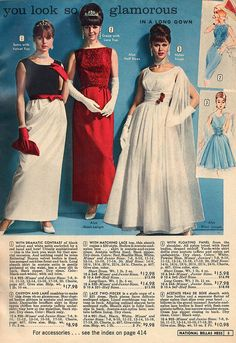Glamorously gorgeous evening gowns from 1964.