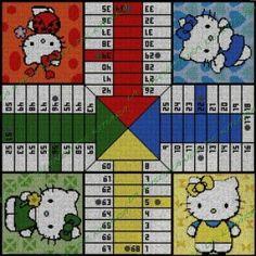 Crafts, Homemade Board Games, Board Games, Cross Stitch Free, Hello Kitty Stuff, Colour Chart, Hama Beads, Manualidades, Handmade Crafts