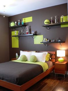 awesome lime green for bedroom