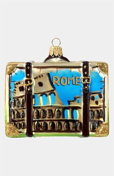 Nordstrom at Home 'Rome' Glass Suitcase Ornament available at #Nordstrom
