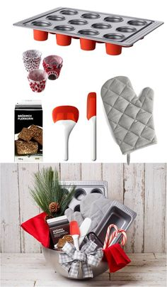 Holiday Gift Baskets Made Easy by IKEA - Start by picking a theme, like this bakers starter kit, and add a variety of items and some holiday treats to create a complete experience. All they have to do is enjoy!