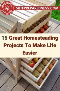 Here are 15 great projects that will make your life easier, especially living off the grid. Homesteading is a whole other world, and if you are new to it you might find yourself overwhelmed with what you should be doing. Take a look at this post for useful tips, tricks, and suggestions now. #homesteading #homesteadprojets #homesteadingtips #homestead Survival Guide, Survival Skills, Finding Yourself, Make It Yourself, Bug Out Bag, Disaster Preparedness, Food Storage, Homesteading, Helpful Hints