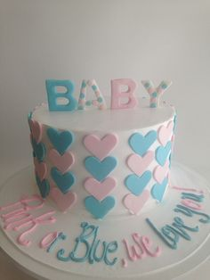 Gender reveal cake (3832) | by Asweetdesign