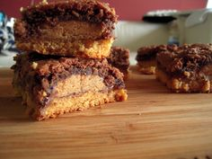 Blondie-Brownie Reese's Cup Sandwiches « Fleur-De-Licious  I made these and they were absolutely awesome!!!