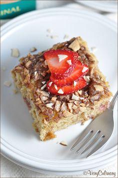 Very Culinary's Strawberry Almond Dessert Boasts a Caffeine Kick #caffeine trendhunter.com