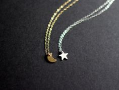 Best Friends Necklaces  Star  Moon by PhilanthropicPanda on Etsy, $60.00