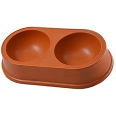Betwoo Bamboo Fiber Pet Feeder Dish Food or Water Bowls for Dogs/Cats (Oval Double Bowl) *** Click on the image for additional details. (This is an affiliate link) #Dogs