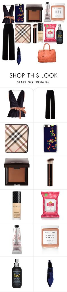 """""""What to wear at the airport, as a celeb;"""" by rabiaheart-13 ❤ liked on Polyvore featuring Roksanda, T By Alexander Wang, Burberry, Casetify, Laura Mercier, Gucci, Yes to Grapefruit, L'Occitane, Herbivore and Bumble and bumble"""