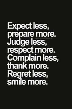 Regret less, smile more