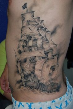 Maybe a similar design, but smaller, not a pirate ship, and in color.
