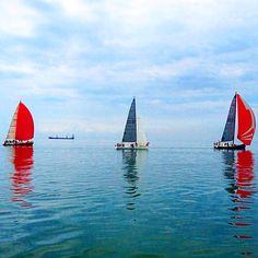 Sailing race in Thessaloniki